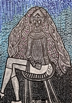 a woman sitting on a chair painting israel mirit ben nun moden