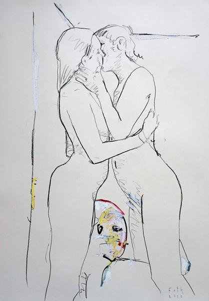 Küssende mit Lustgreis