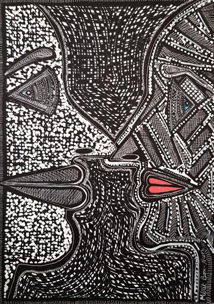 Artistis from Israel loving couple modern drawings