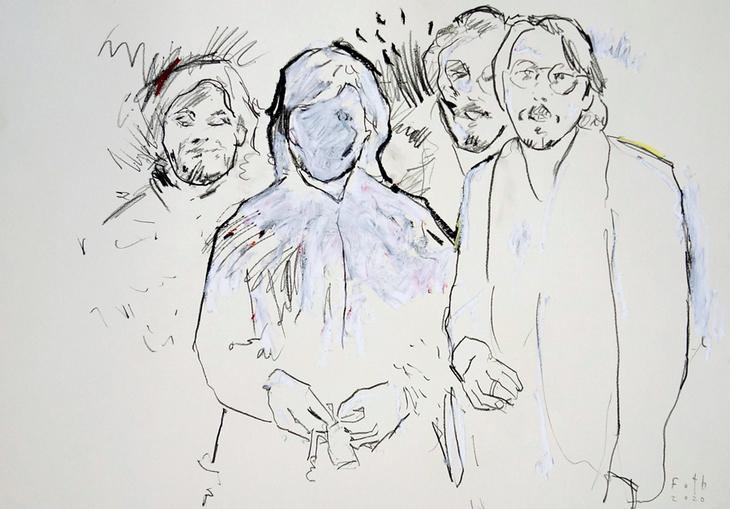 Selbst mit Sichelschmidt, Kunststudenten 1979 I