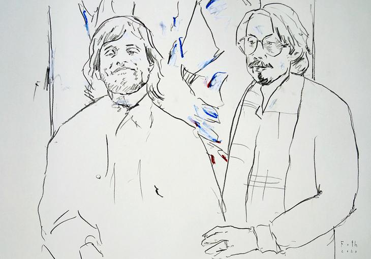 Selbst mit Sichelschmidt, Kunststudenten 1979 II