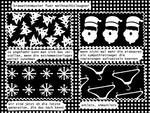 Krawattenmuster für Weihnachtsleugner