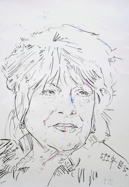 Hannelore Hoger als Marianne Faithfull