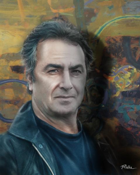 Portrait Salah Jiad Al Masoudi  artwork by Ridha H