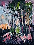 Bäume, Park, Märzlicht