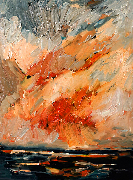 Das Meer, rote Horizonte