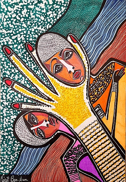 Jewelry drawings woman Israel Mirit Ben-Nun