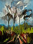 Junge Bäume im Aprillicht