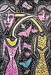Art sessions for group Mirit Ben-Nun studio modern paintings