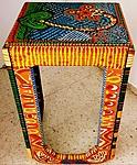 Acryllic solid wood painted table Mirit Ben-Nun