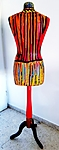 Acrylic painted paper pulp wrapped showcase doll Israel