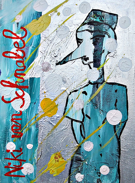NACHTSCHWESTER, 2007, 30 x 40 cm, acrylic on canvas