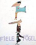 FIELE FOEGEL, 2020, 100 x 80 cm, canvas