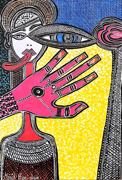 Artistic painter Israel Mirit Ben-Mirit hosting groups