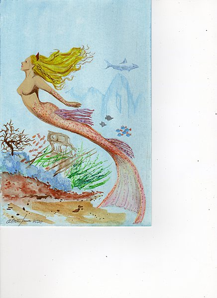 mermaid facing left