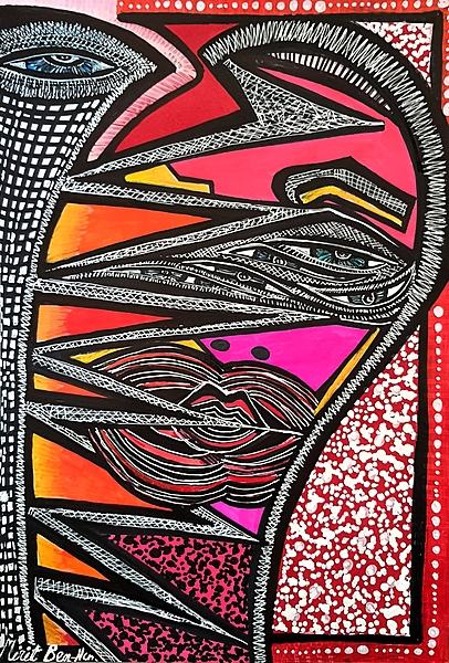 Estudio artistico recibe grupos Mirit Ben-Nun pintora original