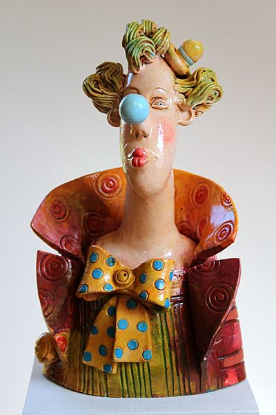 Ceramic clown