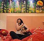 anat angel israeli art collector of naive painting raphael perez