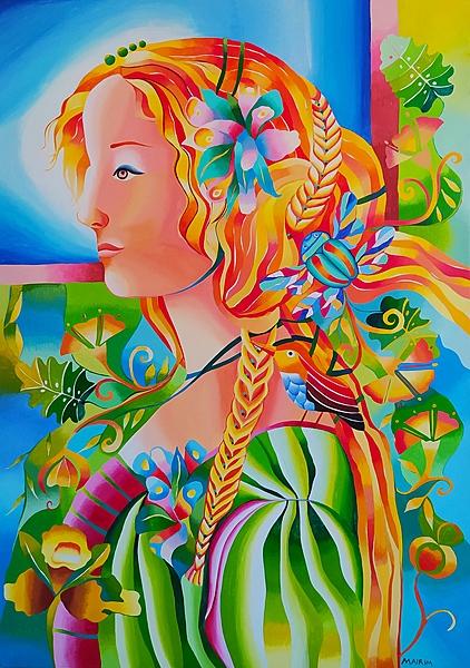 The saleswoman of flowers