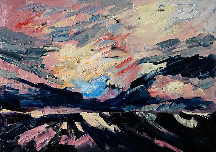 Landschaft, Junilicht - gebrochen II