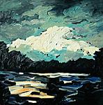 Unterbacher See des Nachts