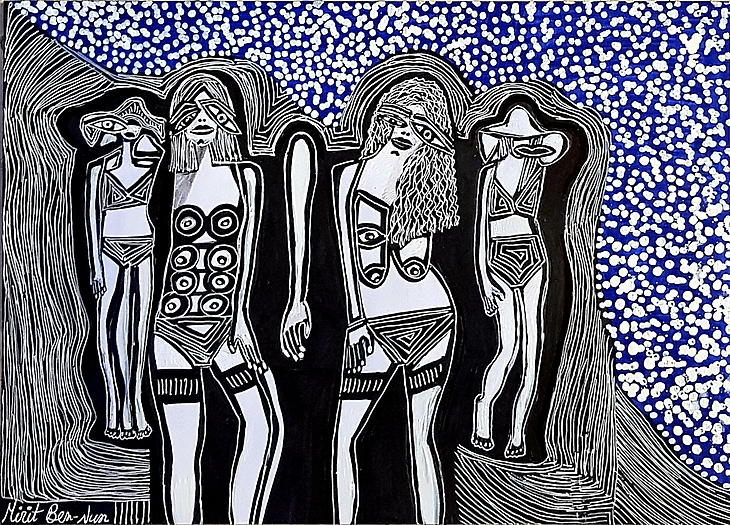 Artista Israel organiza grupos cuadros autenticos Mirit  Ben-Nun