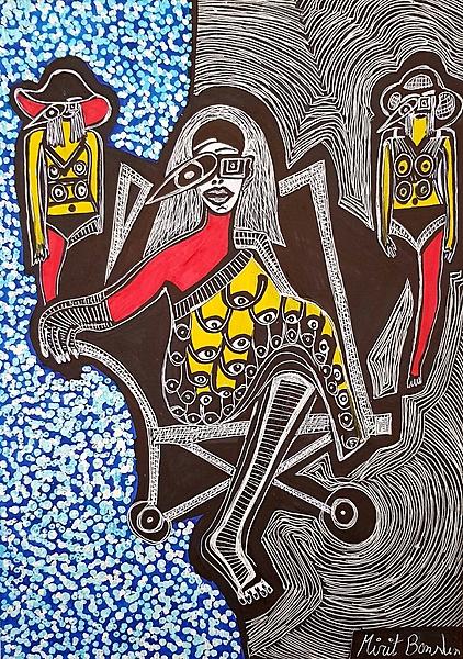 Artist Israel Mirit Ben-Nun drawings and paintings