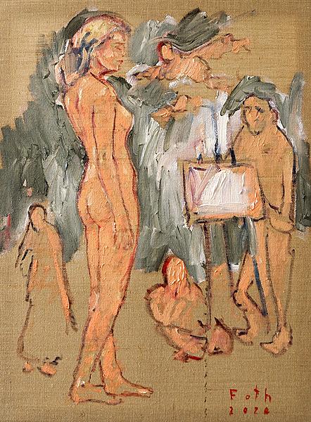 Maler und Modell (Hotel Corona)