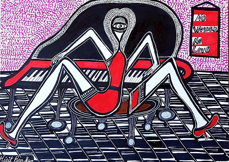 Pintor israel grupo organizado en residencia de artista