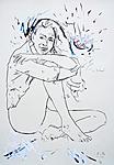 Frau in Hemdbluse II