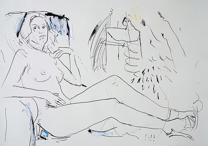Maler und Modell im Juli II