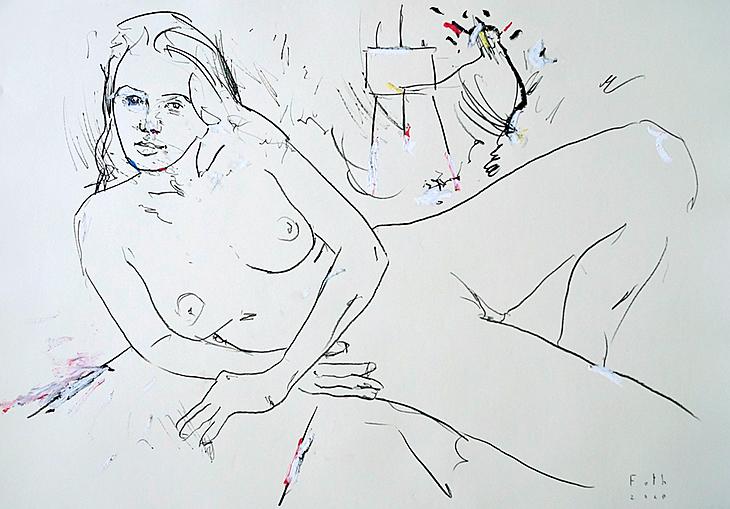 Maler und Modell im Juli V