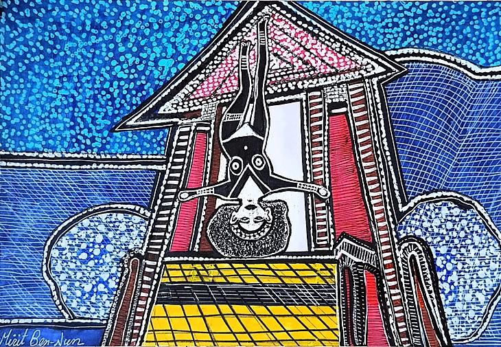 Israeli painters artwork paintings and drawings art woman faces