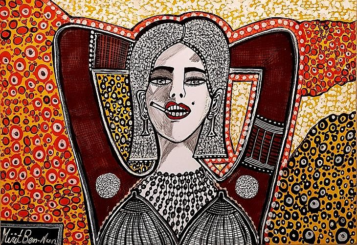 Israeli painters artist works paintings/drawings art woman faces