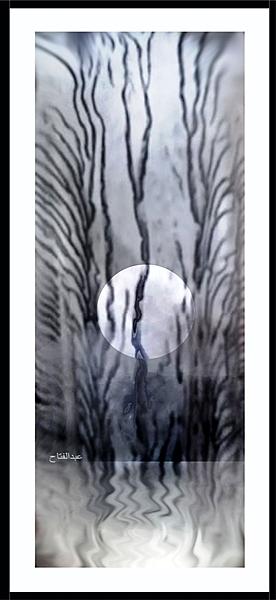 The moon set