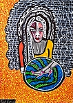 Israeli art works paintings and drawings art woman faces