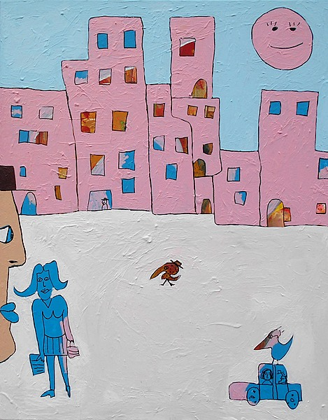 SNOW IN SAN ANSELMO, 2020, 80 x 100 cm, canvas