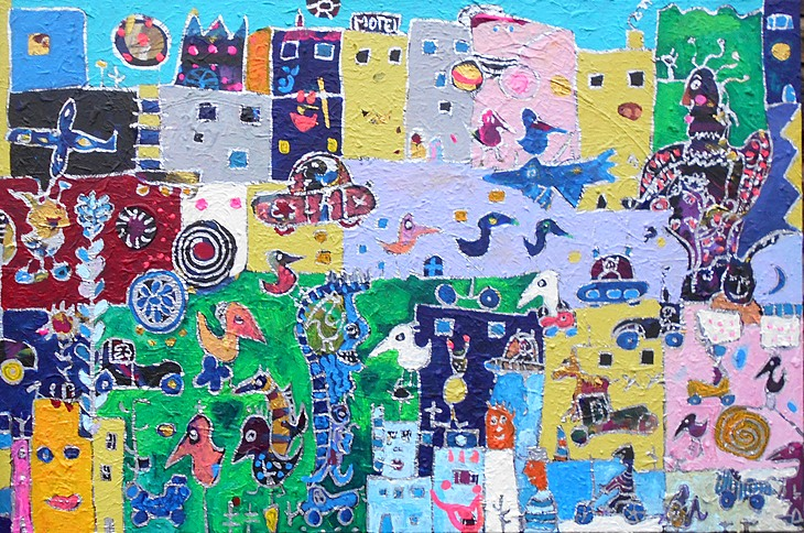 CROSSTOWN TRAFFIC, 2020, 80 x 120 cm, canvas