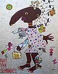 NAOMI CATWALK, 2018, 100 x 80 cm, canvas