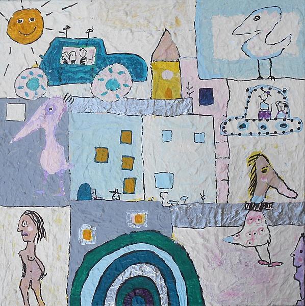 NOTTINGHAM, 2020, 50 x 50 cm, canvas