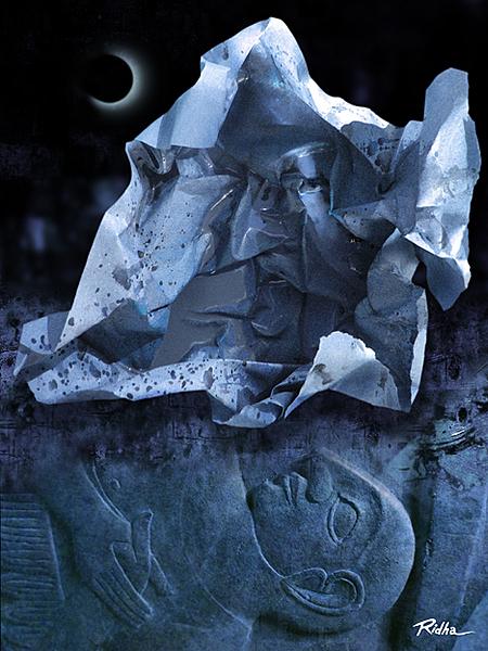 Lunar Eclipse 3 -Digital artwork by Ridha H