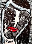 Israeli artist works paintings and drawings art woman faces