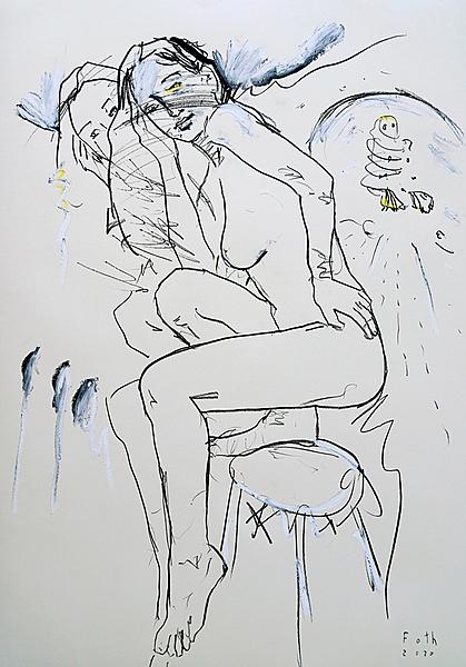 Artistin, furzend
