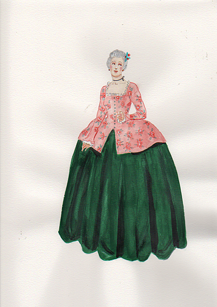 18th cent. womans day dress