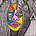Israeli artists modern faces flowers paintings Mirit Ben-Nun