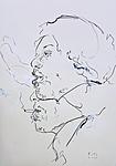 Studie zu Hendrix, rauchend