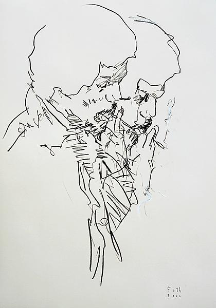 Studie zu Hendrix, rauchend II