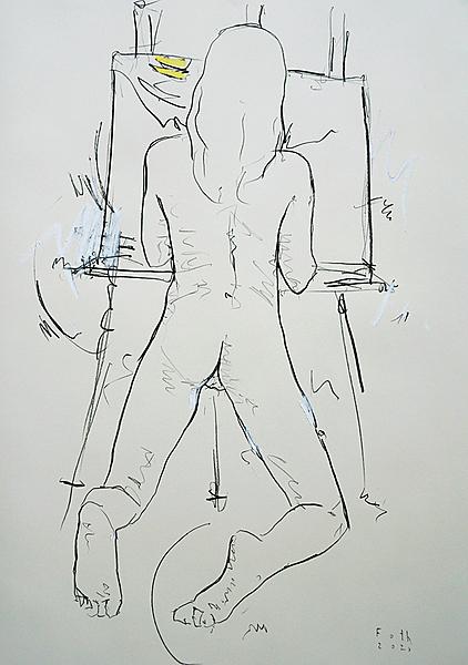 Kind, zeichnend II