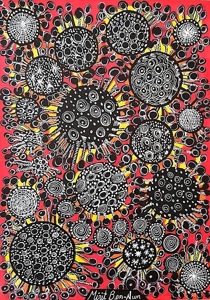 corona virus painting covid 19 mirit ben nun modern art israel