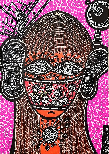 corona virus painting mirit ben nun modern art israel